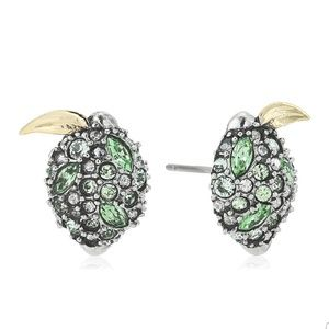 Alexis Bittar crystal encrusted lime earrings